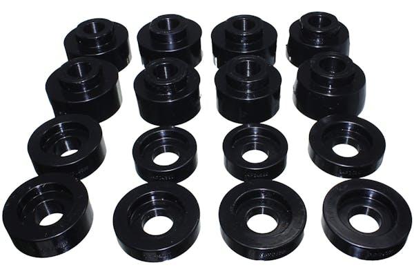 Energy Suspension 4.4124G Body Mount Set, Black Performance Polyurethane