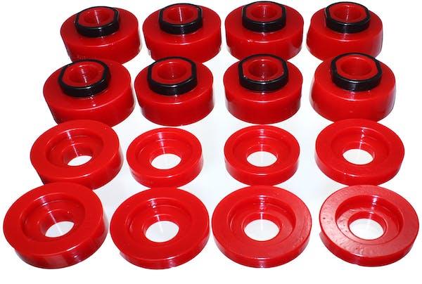 Energy Suspension 4.4124R Body Mount Set, Red Performance Polyurethane
