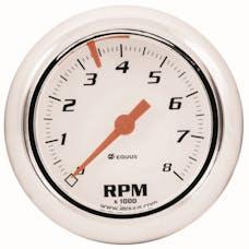 "Equus 5076 Gauge, Tachometer, 2 1/2"", 8K Rpm, Wht Dial, 5000 Series"