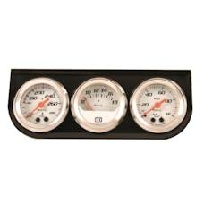 """Equus 5100 Gauge Console, 1.5"""", 270º Sweep, White Dial Black Panel 5000"""