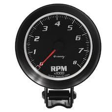 "Equus 6068 Gauge, Tachometer, 3-3/8"", 8K Rpm, Black Dial Black Case, 6000 Series"