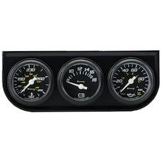 """Equus 6100 Gauge Console, 1.5"""", 270º Sweep, Black Dial Black Panel 6000"""