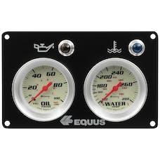 AutoMeter Products E8400P Equus 8000 Series Race Panel, Oil Pressure & Water Temperature