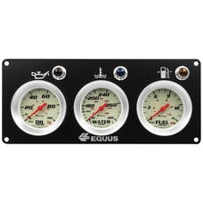 AutoMeter Products E8401P Equus 8000 Series Race Panel, Oil Pressure, Water Temperature, Fuel Pressure