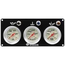 AutoMeter Products E8402P Equus 8000 Series Race Panel, Oil Pressure, Water Temperature, Oil Temperature