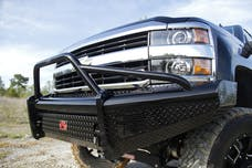 Fab Fours, Inc CH08-S2062-1 Black Steel Bumper w. Pre-runner Guard with Tow Hooks