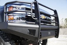 Fab Fours, Inc CH14-Q3060-1 ELITE Bumper with No Guard with Tow Hooks