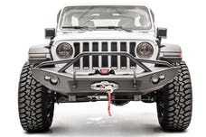 Fab Fours, Inc JL18-B4652-1 Premium Lifestyle Winch Bumper with Pre-runner Grill Guard