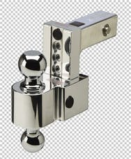 Fastway DT-ALBM6400 4in Adj Dual Locking Aluminum Ball Mount Chrome Balls