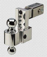 Fastway DT-ALBM6425 2.5in Shank 4in Adj Dual Locking Aluminum Ball Mount Chrome