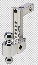 Fastway DT-ALBM6800-2S 8in Adj Dual Locking Aluminum Ball Mount Stainless