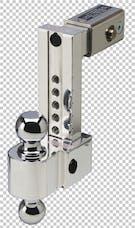 Fastway DT-ALBM6825 2.5in Shank 8in Adj Dual Locking Aluminum Ball Mount Chrome