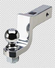 Fastway DT-BM5400 4in drop - 1 1/4in hole Alum Anti-Rattle Ball Mnt