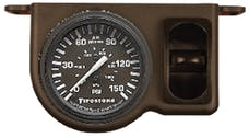Firestone Ride-Rite 2573 Plastic Single Electric Black Gauge