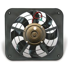 "Flex-A-Lite 143 Fan Electric 12"" single shrouded Lo-Profile S-blade pusher fan w/o controls"