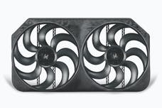 """Flex-A-Lite 294 Fan Electric 15"""" dual shrouded S-Blade universal w/ variable speed control"""