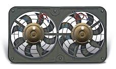 "Flex-A-Lite 432 Fan Electric 12 1/2"" dual shrouded pusher Lo-Profie S-blade w/ controls"