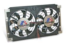 "Flex-A-Lite 573 Fan Electric 12"" dual shrouded puller S-Blade w/ controls 73-86 Jeep CJ"