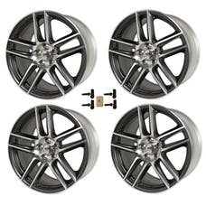 Ford Racing M-1007KIT-DC19910CH WHEEL KIT MUSTANG GLS CHARCOAL 19X9 (2) 19X10 (2)