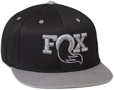 Fox Factory Inc 495-01-299 FOX Authentic Snapback Hat; Black/Gray