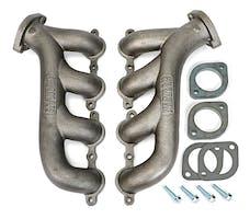 Hedman Hedders 68740 LS ENGINE SWAP CAST EXHAUST MANIFOLDS; RAW STEEL