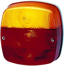 Hella Inc 002578701 2578 Red/Amber Stop/Turn/Tail/License Plate Lamp