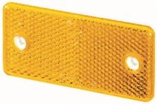 Hella Inc 003326011 3326 Amber Rectangular Reflex Reflector