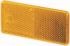 Hella Inc 003326041 3326 Amber Rectangular Reflex Reflector with Adhesive