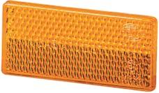 Hella Inc 004412001 4412 Amber Rectangular Reflex Reflector with Adhesive