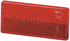 Hella Inc 004412021 4412 Red Rectangular Reflex Reflector with Adhesive