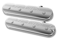 Holley 241-119 VALVE COVER, TALL LS, POLISHED W/ DOMINA