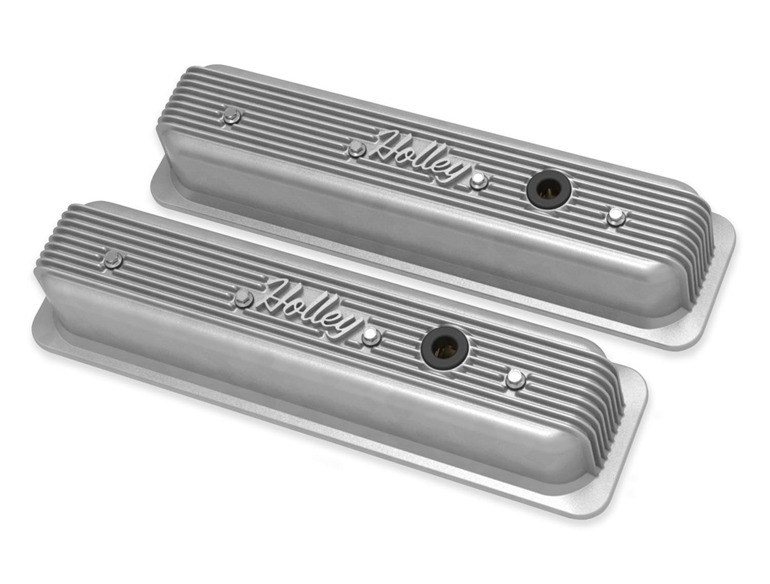 Holley 241-290 GM Muscle Series ZZ6//Vortec Center Bolt Valve Cover Natural NEW