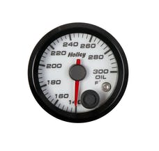 Holley 26-604W 2-1/16 HOLLEY OIL TEMP GAUGE-WHT