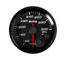 Holley 26-604 2-1/16 HOLLEY OIL TEMP GAUGE-BLK