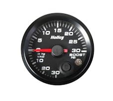 Holley 26-606 2-1/16 HOLLEY BOOST/VAC GAUGE-BLK