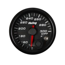 Holley 26-607 2-1/16 HOLLEY DIFF TEMP GAUGE-BLK