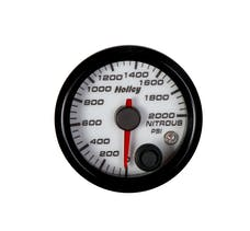 Holley 26-609W 2-1/16 HOLLEY NITROUS PRES GAUGE-WHT