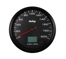 Holley 26-611 4-1/2 HOLLEY 200 GPS SPEEDO-BLK