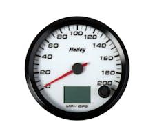 Holley 26-613W 3-3/8 HOLLEY 200 GPS SPEEDO-WHT