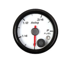 Holley 26-614W 2-1/16 HOLLEY FUEL LEVEL GAUGE-WHT