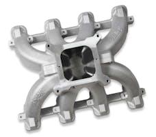 Holley 300-256 INTAKE MNFD CATHEDRAL SPLIT SGL-PLN CARB