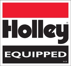 Holley 36-28 DECAL - HOLLEY EQUIPPED