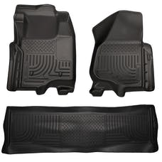Husky Liners 98711 Weatherbeater Series Front & 2nd Seat Floor Liners (Footwell Coverage)