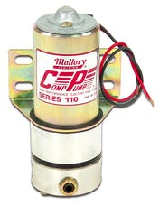 Mallory 29256 Mallory HP Carb, Univl Pump, 110gph