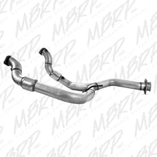 MBRP Exhaust FGAL010 Y Pipe with Catalytic Converters; AL