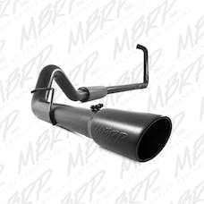 MBRP Exhaust S6212BLK 4in. Turbo Back; Single Side Exit; Black Finish