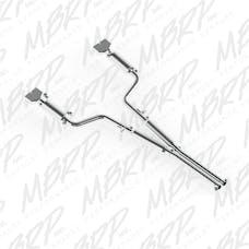MBRP Exhaust S7108409 2 1/2in. Cat Back; Dual Split Rear; T409