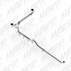 MBRP Exhaust S8008AL 5in. Down Pipe Back; Dual SMOKERS™ (incl. front pipe); AL