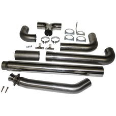 MBRP Exhaust S8116409 5in. Turbo Back; Dual SMOKERS™; T409