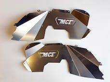 MCE Fenders FFJKIF-F 2 Front Inner Fender Liners Bare Aluminum